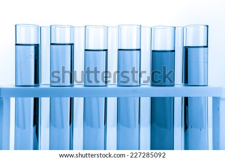 Refinery Laboratory Lab Tube, white background  - stock photo