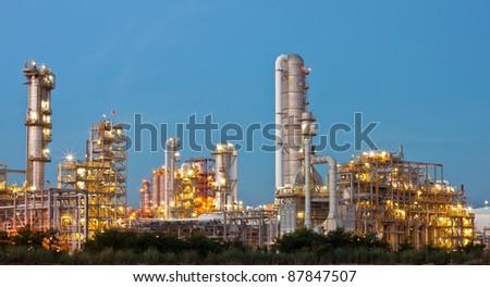 Refinery plant area - stock photo
