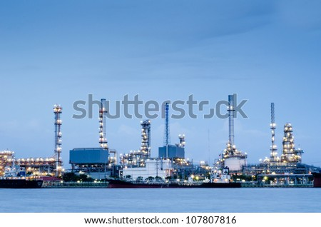 Refinery plant area in Bangkok - stock photo