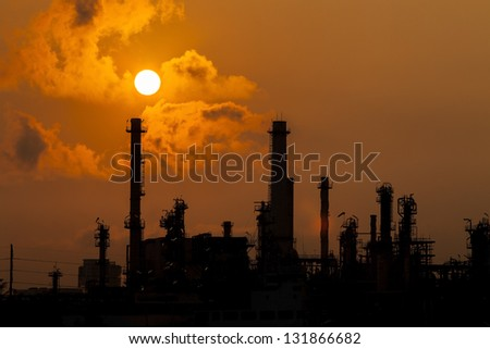 Refinery Row in Bangkok, Thailand