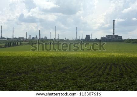 refining plants  - stock photo