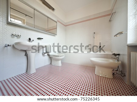 refitted lovely apartment, internal nice bathroom - stock photo
