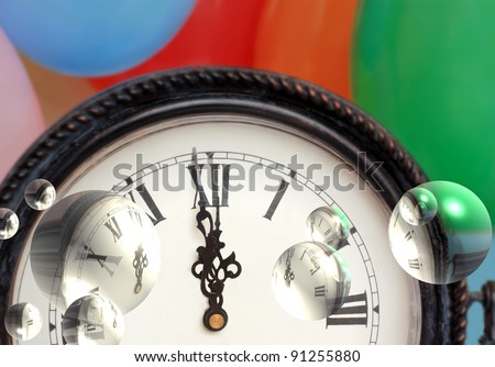 Reflecting on Time - stock photo