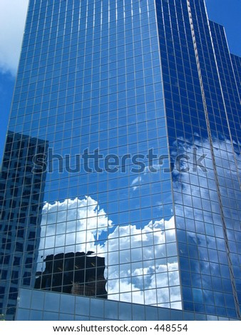 Reflecting the Competition - stock photo