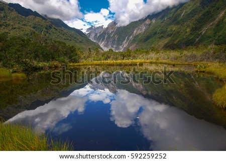 Reflection at New Zealand glacier