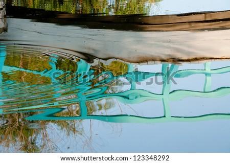 Reflection of a Bridge - stock photo