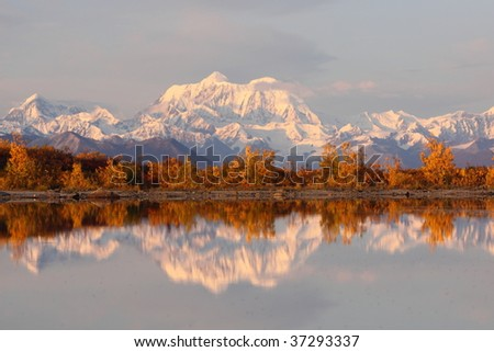Reflection of Alaskan Range