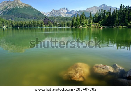 Reflection of Mountains in the Lake