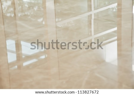 Reflection on the floor - stock photo