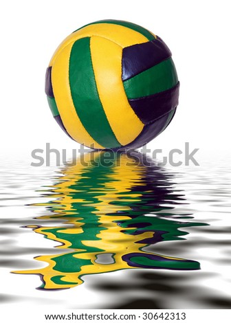 reflection on water modern ball sport - stock photo