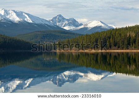 Reflections at Rockie Mountains
