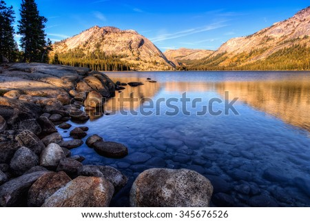 Reflections on Tenaya Lake, Yosemite National Park, California