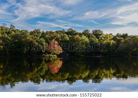 Reflections on the Water - stock photo