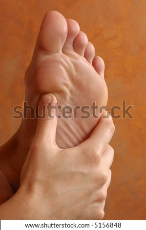 Reflexology Foot Massage Treatment - stock photo