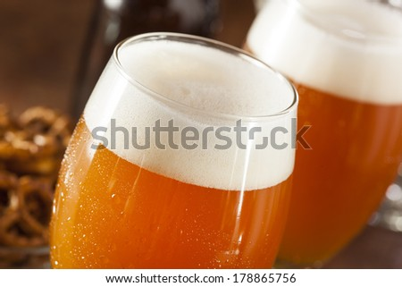 Refreshing Belgian Amber Ale Beer in a Glass - stock photo