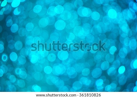 Refreshing blue watery blurry background (shallow DOF; color toned image) - stock photo