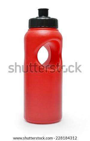 refreshing drink bottle on white - stock photo