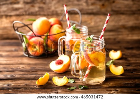 refreshing peach drink