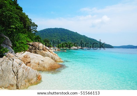 refreshing sea view - stock photo