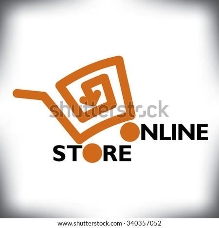 Refreshingly new online shopping cart icon for Print or Web - stock photo
