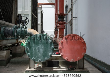 Refrigeration compressors Building on - stock photo