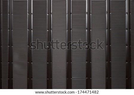 Refrigerator Coils Background, at the back of fridge - stock photo