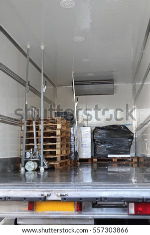 refrigerated truck stock images royalty free images vectors shutterstock. Black Bedroom Furniture Sets. Home Design Ideas