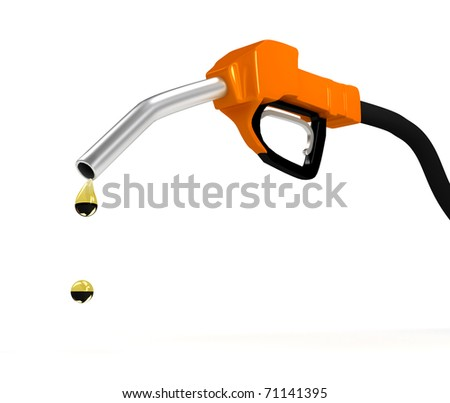 Refuel station pump over white background. computer generated image - stock photo