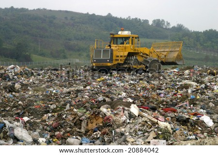 refuse collection overview - stock photo