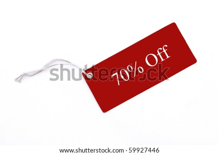 Reg blank tag isolated on white back ground