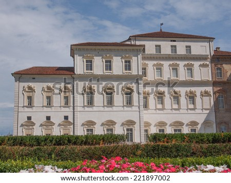 Reggia baroque royal palace in Venaria Reale Turin Italy - stock photo