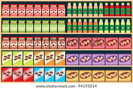 Regiments with products. raster illustration. - stock photo