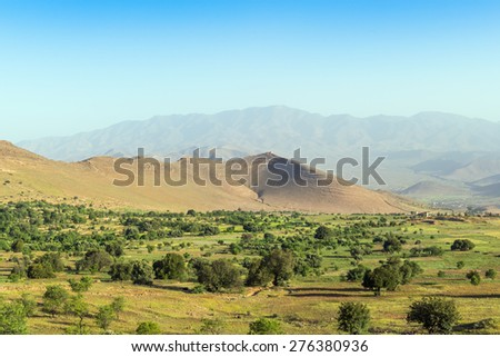Region of Dades Gorge, Morocco - landscape - stock photo