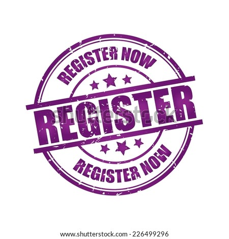 Register Now Rubber Stamp.