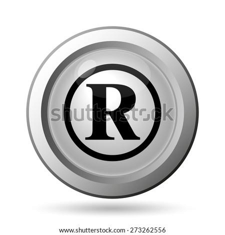 Registered mark icon. Internet button on white background.  - stock photo