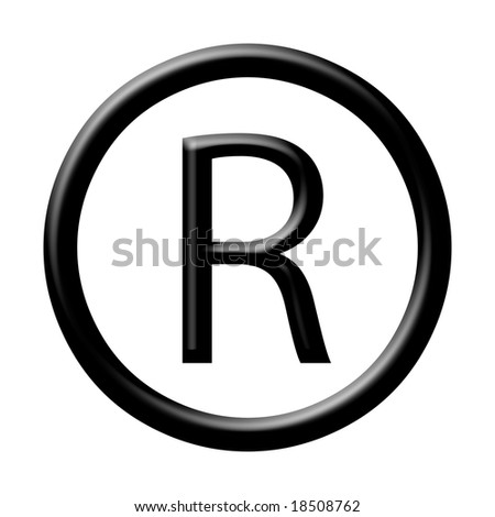 registered symbol - stock photo