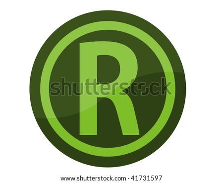 registered trademark symbol - stock photo