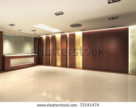 Registration counter area - stock photo
