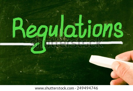 regulations concept - stock photo