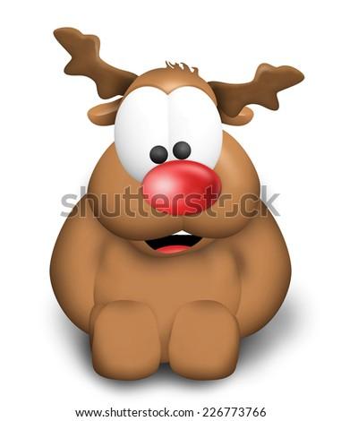 Reindeer Figure Christmas Look - stock photo