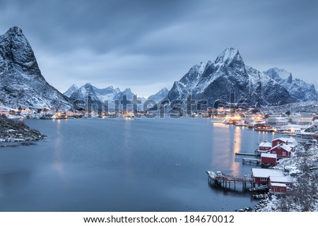 Reine Village on the Lofoten Islands, Norway