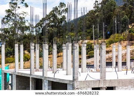 Concrete pillars stock images royalty free images for Concrete pillars for foundation
