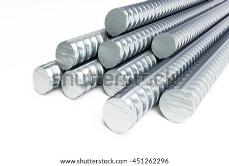 reinforcing steel. 3d Illustrations on a white background - stock photo