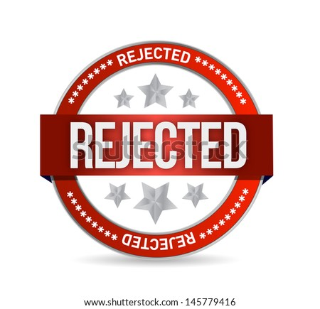 reject seal stamp illustration over a white background - stock photo