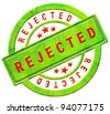 rejected access denied disapproved prohibited seal stamp sticker or icon red on green isolated - stock photo