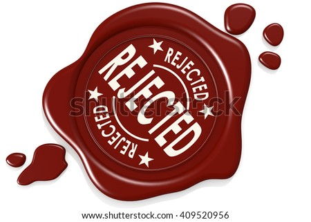 Rejected label seal isolated image, 3D rendering - stock photo