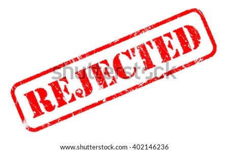 REJECTED rubber stamp text on white background - stock photo