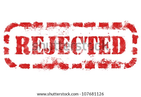 Rejected stamp over white background. High detail in high resolution. - stock photo