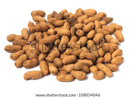 related peanut on isolated white background