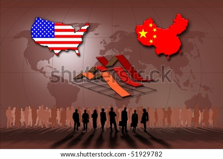 Relations ans statistics between the United States and China